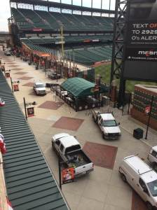 Preparation in Underway on Eutaw Street